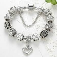 white gold plated charm bracelet images Alphabet deal 18k white gold plated crystal heart charm braclet jpg