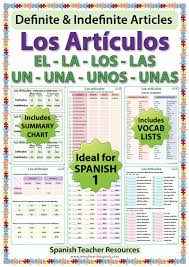 spanish articles worksheets u2013 definite and indefinite woodward