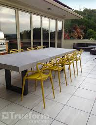 cement table and chairs yellow masters chairs for a jolly outdoor le collection yellow