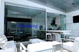 china high quality stacking sliding glass doors folding partition