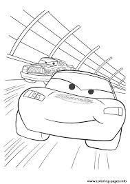 cars lightning mcqueen racing a4 disney coloring pages printable