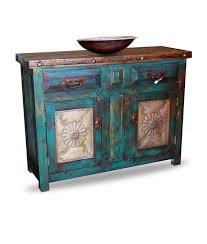 Distressed Bathroom Vanities Hand Made Distressed Turquoise Vanity By Foxden Decor Custommade Com
