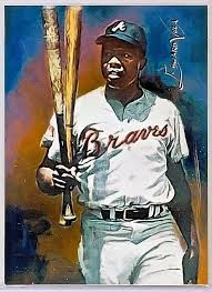 hank aaron atl braves 28 sketch print card limited 1 25 edward