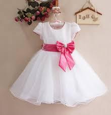 robe bebe mariage robe de cérémonie enfant charlene de couleur blanche