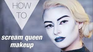 scream queen makeup tutorial dare halloween makeup 2017 black