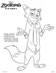 get your zoo on with this nick wilde coloring page zootopia