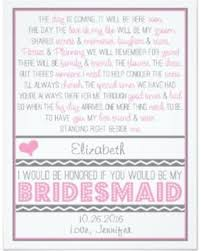 asking bridesmaids poems new savings on will you be my bridesmaid pink gray poem card
