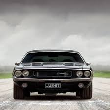 black 1970 dodge challenger dodge needs to put the chrome on the front of the challenger