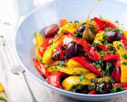 cuisiner le poivron recette salade de poivrons marinés
