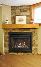 interior classic style stone veener fireplace ideas with wall