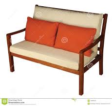 Wooden Sofa Wooden Sofa With Cushion Royalty Free Stock Photo Image 12855645