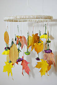 diy fall leaves flowers mobile a joyful riot