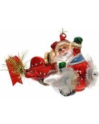 cyber monday savings ornaments pilot santa glass ornament