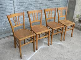 Vintage Bistro Chairs Vintage Wooden Bistro Chairs Set Of 4 For Sale At Pamono