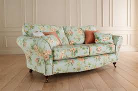 Floral Living Room Furniture Sofa Design Pattern Simple Floral Sofa Great Pillow Orange