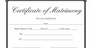 marriage certificate template 7 best images of fill out