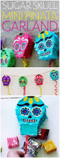 diy day of the dead sugar skull piñata garland growing up bilingual