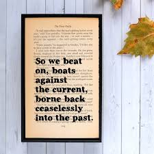 great gatsby home decor the great gatsby so we beat on framed quote great gatsby
