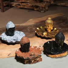 home decor free shipping buddha head ceramic aromatherapy incense holder for incense stick