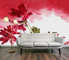 artwork wall murals for living room red and white and green red red and white and green red roses painting wall mural for living room light grey