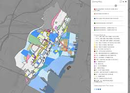 Map Of Hudson County Nj Interactive Zoning Map Dashboards Jersey City Open Data