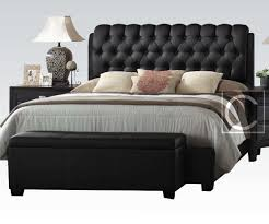 King Size Leather Headboard King Size Button Tuff Plush Headboard Black Leather Bed Frame
