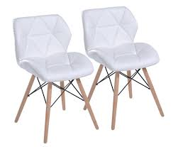 White Leather Dining Chairs Modern Modern White Leather Dining Chairs Whereibuyit