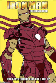 iron man coloring book pictures