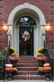 Decorations For Front Of House Front Porch Decorating Ideas For The Fall Mums Urns Moss Balls