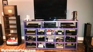 diy video game console storage myoutdoorplans free woodworking