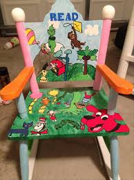 Little Kids Rocking Chairs Too Many Crafts Too Little Time Hand Painted Children U0027s Rocking