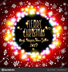 Red And White Christmas Lights by Vector Merry Chrismas And Happy New Year 2017 Glowing White