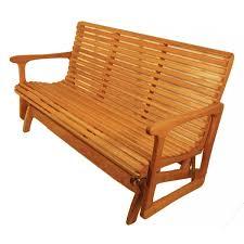 sittin u0027 easy medium back glider bench 43g free shipping everyday