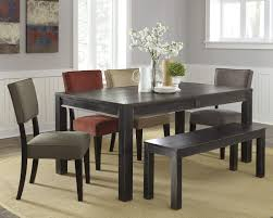 Dining Room Table Set With Bench by Signature Design By Ashley Gavelston 6 Piece Rectangular Table Set