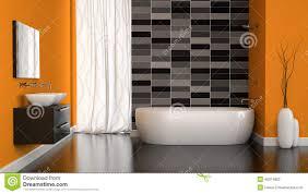 interieur salle de bain moderne intérieur de salle de bains moderne avec le mur orange