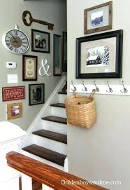Staircase Wall Decorating Ideas Cool Stairway Decorating Ideas Photos Living Room With Stairs