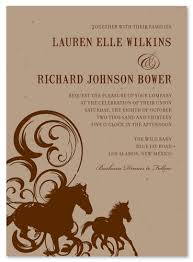 western wedding invitations western wedding invitations on seeded paper horses by