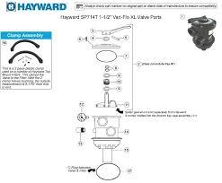 hayward sp714t1 backwash valve parts hayward pool filter valve