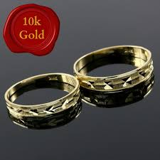 weddings 10k solid 10k yellow gold set of two weddings rings sz 7 9