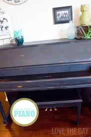 painted piano with folkart home decor chalk
