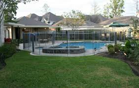 view larger rectangular above ground pools with decks above