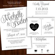Wedding Invitations Dallas Printable Wedding Invitation Calligraphy Wedding Invitation