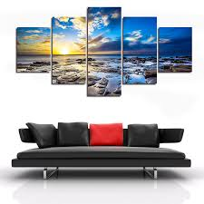 Canvas Painting For Home Decoration by Compare Prices On Sunset Seascape Paintings Online Shopping Buy