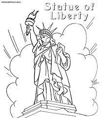 statue of liberty coloring pages coloring pages to download and