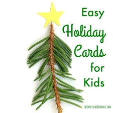 diy christmas cards for kids the inspired treehouse