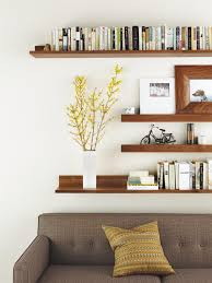 Home Interior Books by Living Room Wall Shelves On The Corner Space Plant Decor Picture