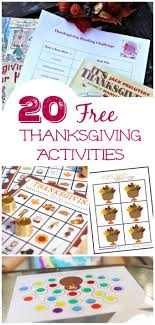 20 free thanksgiving printable activities for thanksgiving