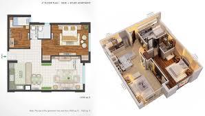 2 Bhk Home Design Layout 1 Bhk Design Home