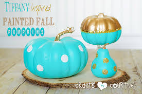 how to make a tiffany inspired painted fall pumpkin
