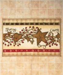 hearts and stars rug sharing u0026 caring bathroom rug home decor ebay